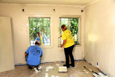During Rebuild Day on April 25, 2015, the Cortes home in South Sacramento receives a complete makeover, sponsored by Reeve-Knight Construction and Kaiser Permanente. (Photo by Joan Cusick)