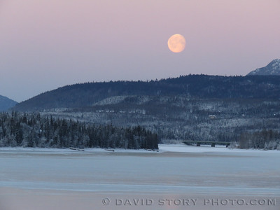 Another morning moon over Cooper Landing, AK.