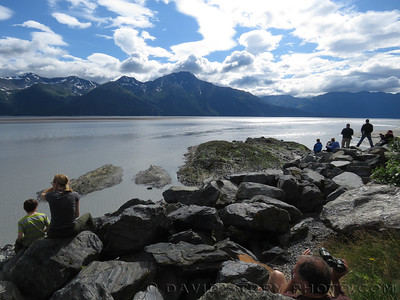 Waiting for the bore tide along Turnagain Arm, AK.