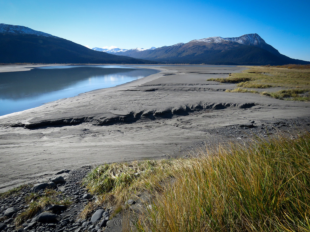 View from Twentymile River. Turnagain Arm, Alaska
