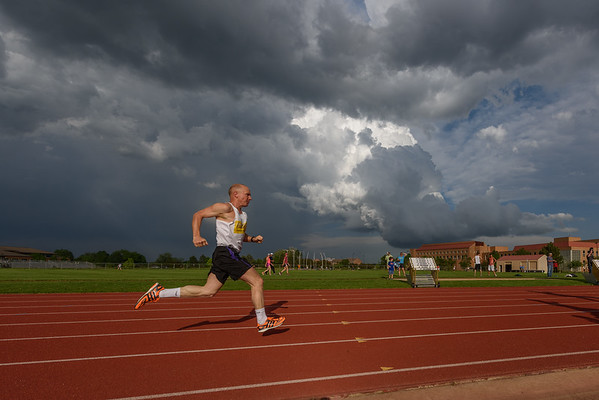 Storm Clouds at the Track Meet