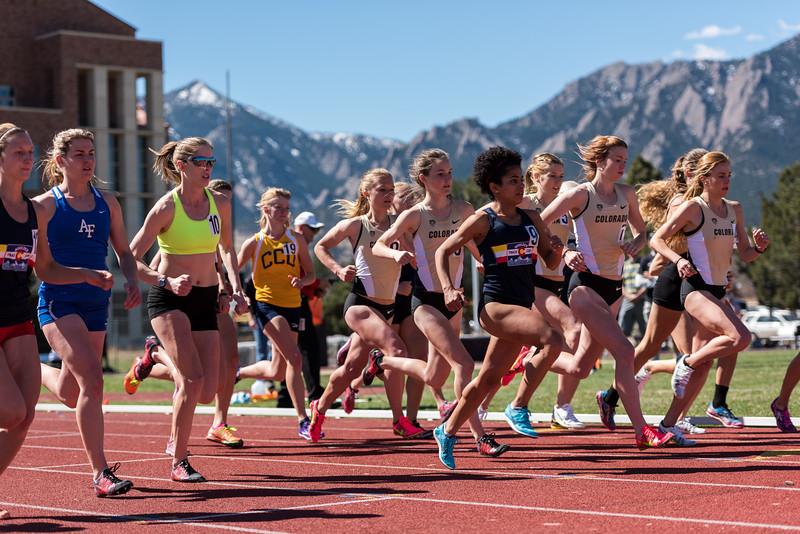 1500 meters, start