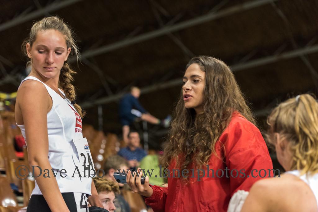 Post race moment, Tia and Halea