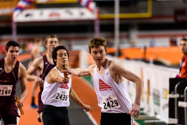 boys 4x200, Stefan and Kyle keep the stick moving