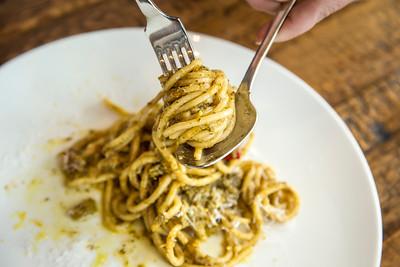 Pasta dish at Hawks Public House