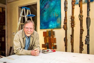 William Ishmael in his studio