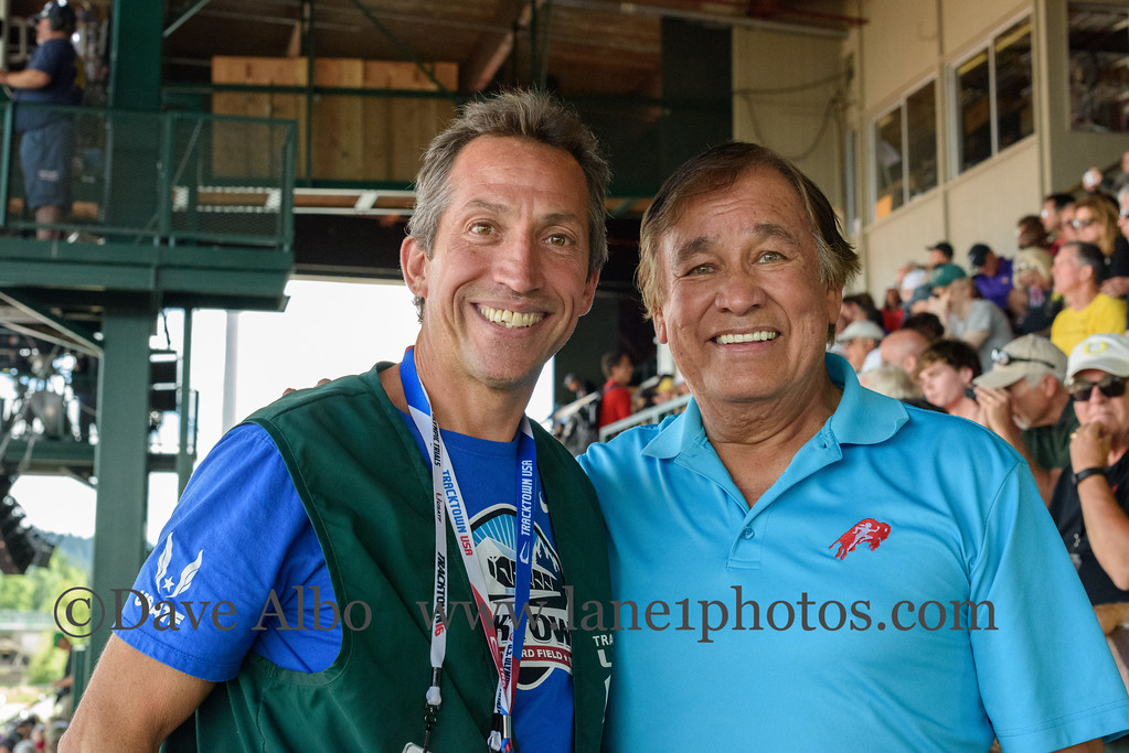 Our personal usher with Billy Mills