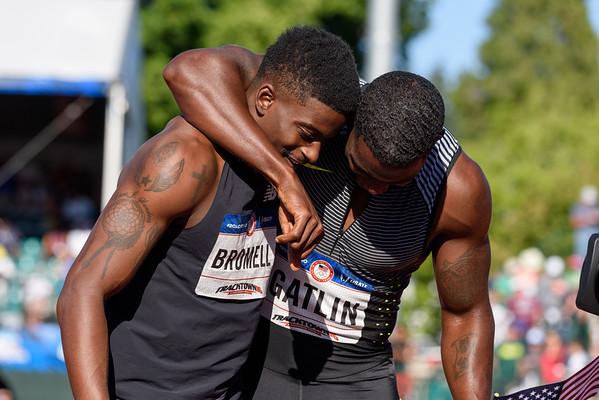 Gatlin and Bromell