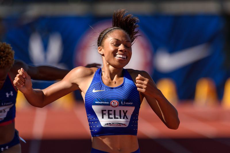 Allyson Felix wins