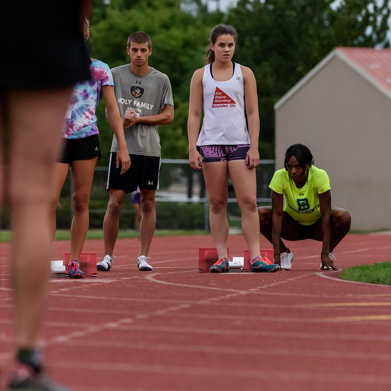 Kira, 200 meter start
