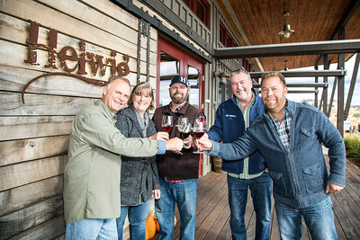 Leo Grover of Pinnacle Emergency Management celebrates with Helwig Winery. (December 2017 edition of Comstock's)