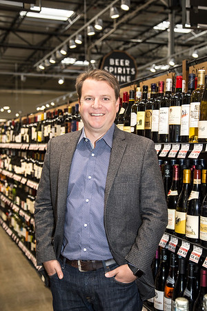 Raley's Wine Buyer Curtis Mann, photographed for the Taste feature in the December 2017 edition of Comstock's magazine.