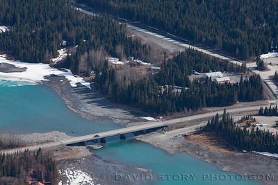 2017 04 16: Where the Kenai turns from lake to river. Cooper Landing, AK.