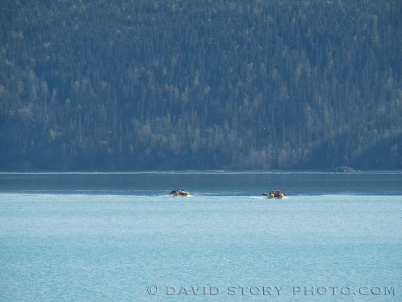 2017 05 11: Rafts crossing Skilak Lake, AK.