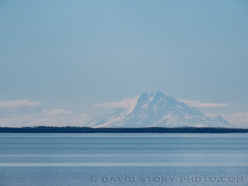 2017 05 10: The highest of the Aleutian Range at 9,150 ft., Redoubt is one of three volcanoes most commonly visible from Skilak Lake, AK.