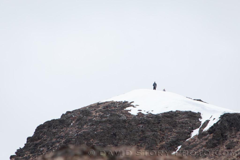 2017 04 16: Snapshot on Juneau ridge. Cooper Landing, AK.
