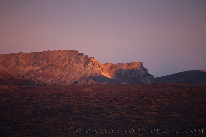 2017 19 17: Sunset in Denail National Park, AK.