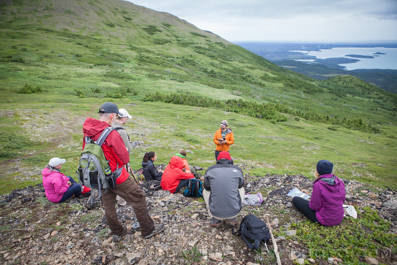 2017 07 19: Learning about Wilderness above Skilak Lake, AK.