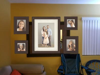 (1) 20x30 Frame, (2) 11x14s (2) 10x10s