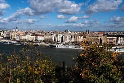 01 May 18	From Buda Hill which I believe is on the west side of the river (it twists and turns a lot) one can look across at the Pest side of the city where things are really booming. In the primary tourist section of the city things are spotlessly clean, but as you go further away from the river section they become a bit grittier. But at its worst it is all very clean when compared with our major cities and truly a delight to navigate. As you can see from the photo there is plenty of building taking place - you can see at least 4 tall cranes - but what you don't see is all the renovations taking place. The small apartment building in which we stayed for our last two days was being completely restored and it was blatantly obvious by all of the construction litter in the courtyard. But we didn't mind being a part of it as it tended to make our stay more real after having spent 8 days on a luxury river boat. I think it would have been fun to spend a full week in it just wandering around the city on foot.  I'll share several more images from the city before I'm through.  This is pretty much what the camera recorded. Nikon D500; 18-200: Aperture Priority; ISO 200; 1/800 sec @ f /10.