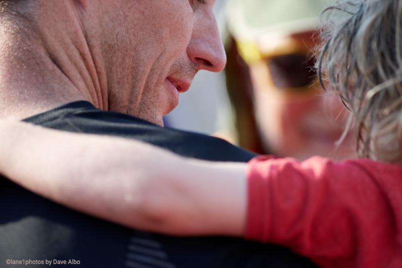 Father child closeup