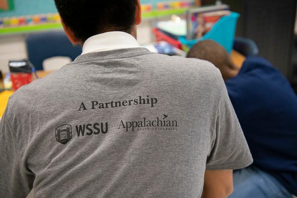 20190405 WSSU Appalachian  State Middle Fork Academy  Student Teachers 056Ed