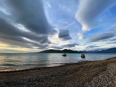 2020 06 02: Evening on Skilak Lake, Alaska.