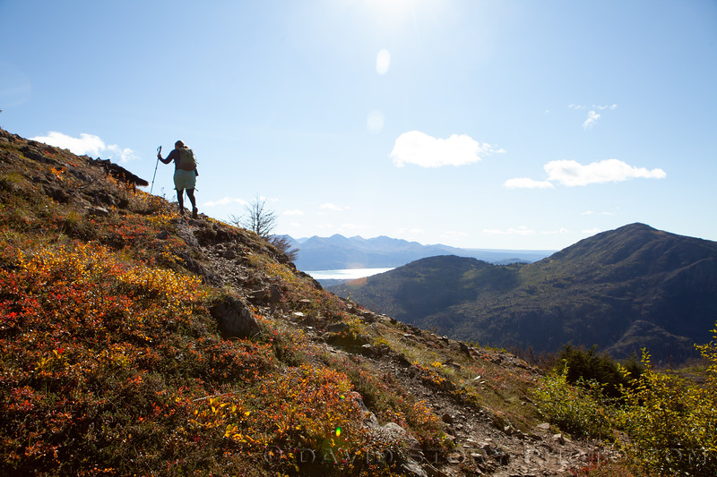 2020 09 10: Hiking up Skyline Trail. Cooper Landing, AK.