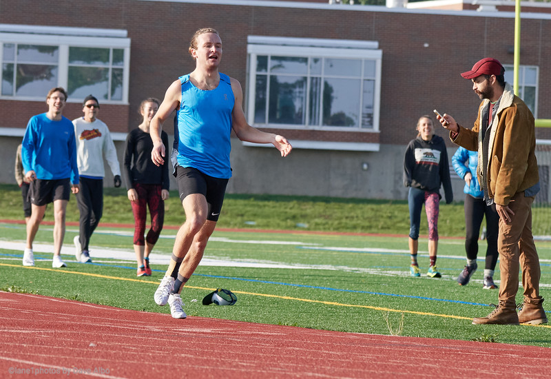 RISE workout 800 meter time trial
