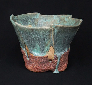 """#609 Orchid pot -  5 1/2"""" round, 3 1/2"""" deep, 4 1/2"""" tall   ***SOLD***"""