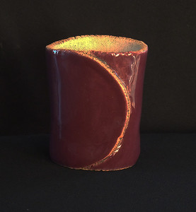 "#801  2 1/4"" x 2"" oval, 2 1/2"" deep, 3 1/2"" tall ***SOLD***"