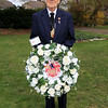 10 APR 2021 - Pictured:  Cllr Alan Todd, Mayor of Harwich. - Wreath laying at the Mayor's Garden in memory of His Royal Highness the Prince Philip, Duke of Edinburgh, on behalf of all of the residents of Harwich. - Photo Copyright © Maria Fowler 2021