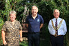 01 AUG 2021 – PICTURED: Cllr. Jo Henderson (Mayoress of Harwich), Colin Farnell (Chairman, The Harwich Society), Cllr. Ivan Henderson (Mayor of Harwich) - Bobbit's Hole Open Day & Charity Stroll – Photo Copyright © Maria Fowler 2021