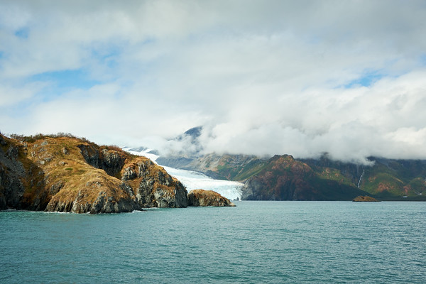 The amazing landscape & seascape near Aialik Glacier, Kenai Fjords National Park.
