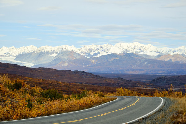Icefall Peak behind the Denali Highway, near Paxson, Alaska.