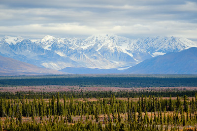 Views of the Alaska Range from the Denali Highway.