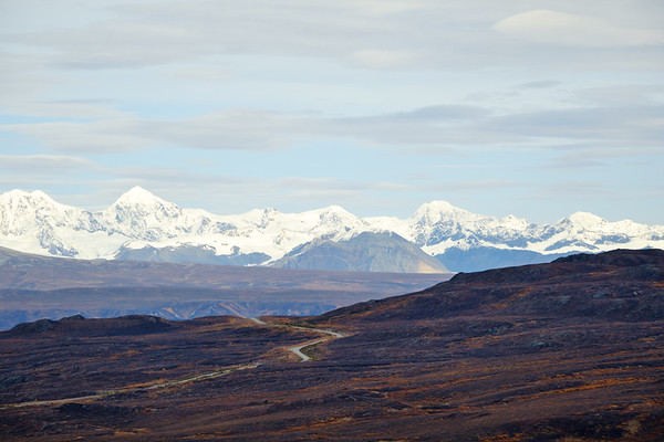 """The Thorn"" looming over the Denali Highway near Paxson."