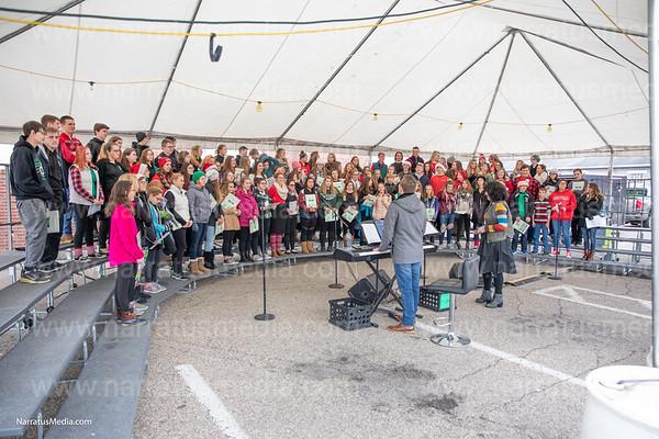 Ross Choir Sings for Tree in Harrison