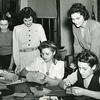 Volunteers of Craft Teaching with teens, 1940s.