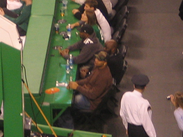 Patriot's player Richard Seymour was at the game too!