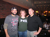At Nebo's before the game<br /> From left to right: Mike Rosa, Hope Jordan and Peter Marinilli 1998