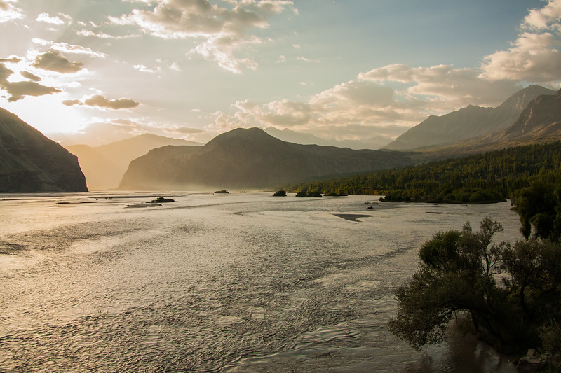 Indus river near Khaplu, Baltistan