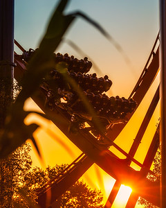 Valravn ride at sunset