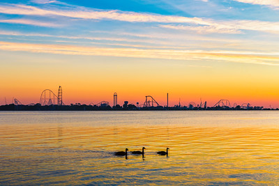 Cedar Point Skyline at Sunrise
