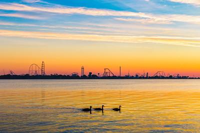 Cedar Point Skyline at Sunrise