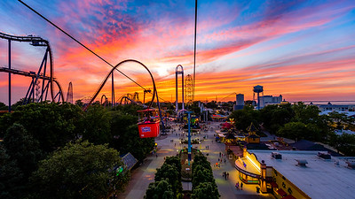 Cedar Point - Sky Ride Sunset