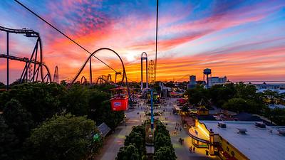Cedar Point - Sky Ride Sunset
