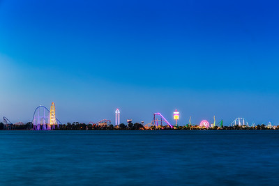 Cedar Point Nighttime Long Exposure