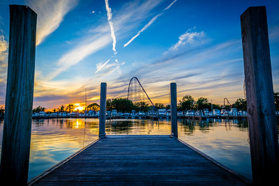 Cedar Point Marina Sunset
