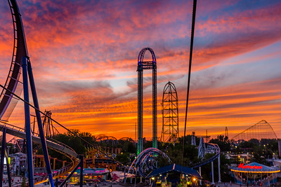Cedar Point - Sky Ride at sunset